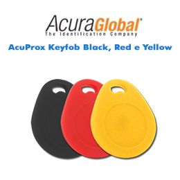 AcuProx Keyfob Black, Red e Yellow
